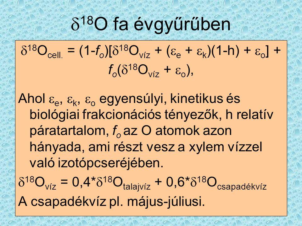 d18Ocell. = (1-fo)[d18Ovíz + (e + k)(1-h) + o] +